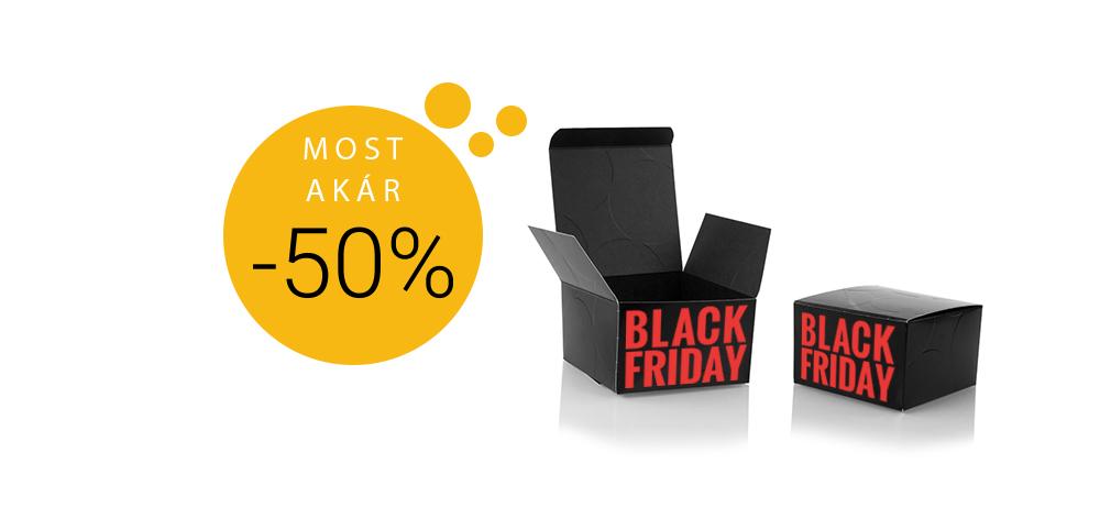 Éndobozom.hu black friday, ahol akár 50% kedvezménnyel vásárolhatsz egyedi grafikájú dobozokat.