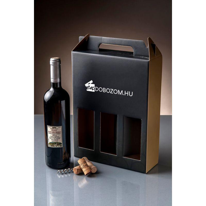 boros doboz 3 üveg bor csomagolásához