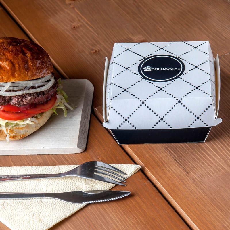 különleges mintázatú hamburgerdoboz