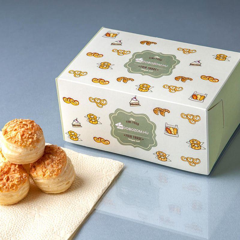 süteményes doboz aprósütemény csomagoláshoz