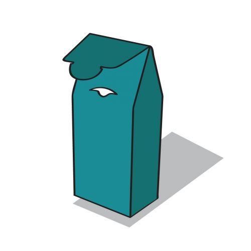 tetőformájú doboz ikon