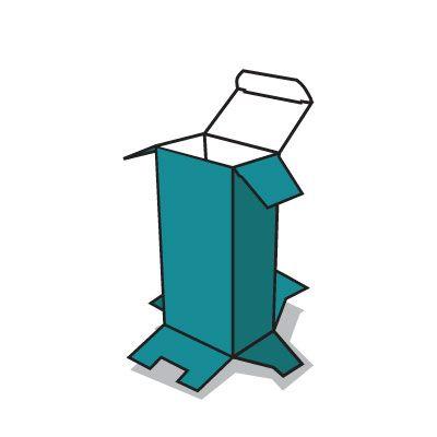 önzáró aljú doboz ikon