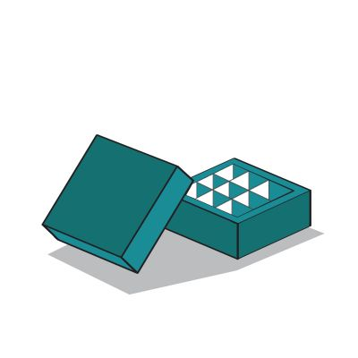 peremes alj-tető doboz ikon