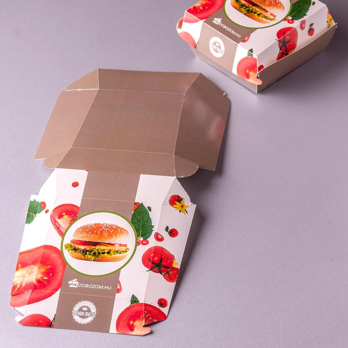 hamburger doboz lapra szerelve