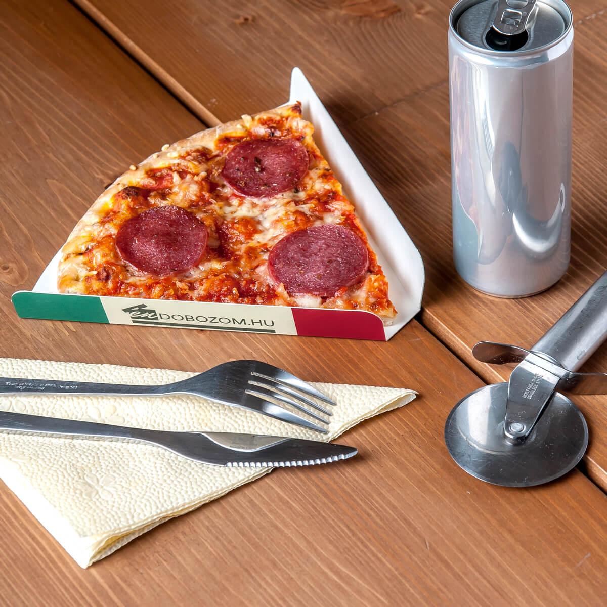 Pizzaszelet tálca