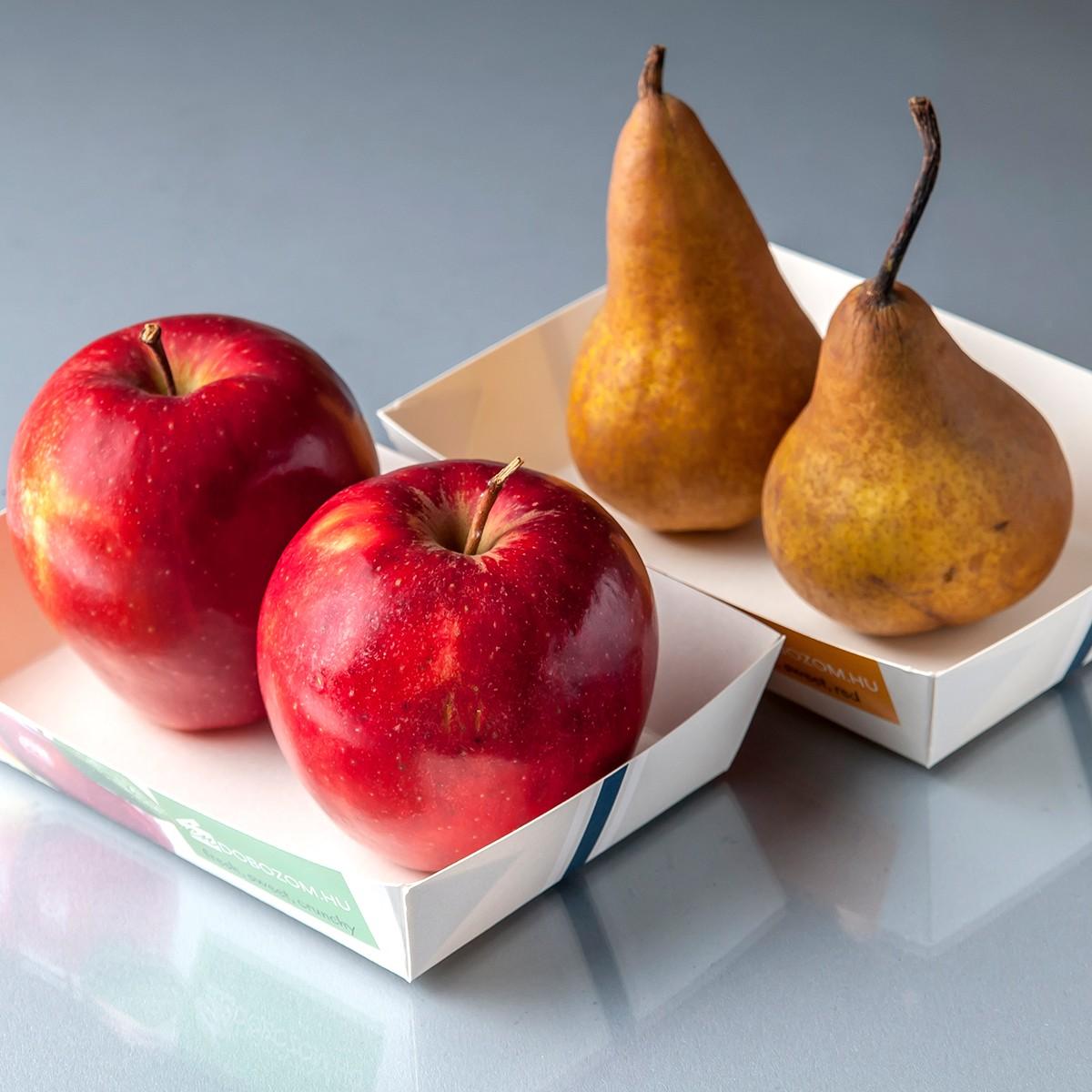 Ragasztott papírtálca zöldség gyümölcshöz