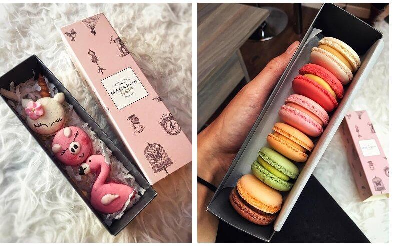 Macaron sütik dobozban