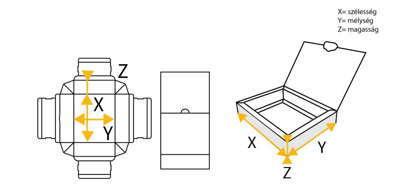 lengőfüles doboz rajza
