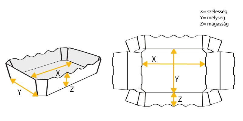 papír tálca rajza
